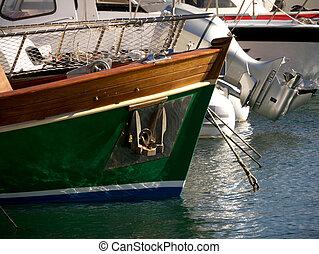ormeggiare, barca, la