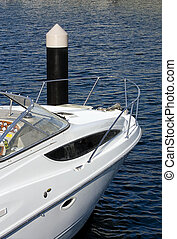 ormeggiato, lusso, barca