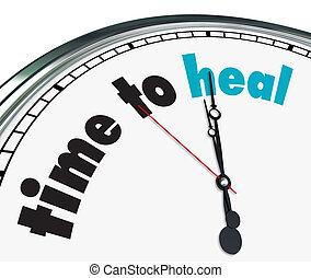 orné, guérir, temps, -, horloge