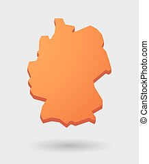 ornage Germany map icon with a - Illustration of a Germany...