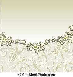 ornam, 花, ベージュのバックグラウンド