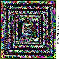 ornamemt, color, resumen, helical, figuras, plano de fondo, ...