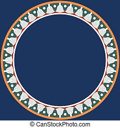 ornament., ラウンド, 花, フレーム, エジプト人, 伝統的である