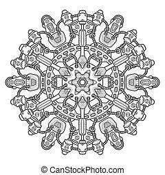 ornament., ラウンド, steampunk