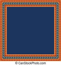 ornament., 広場, 花, フレーム, エジプト人, 伝統的である