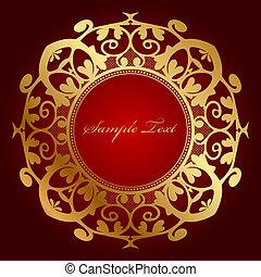 ornament, achtergrond, goud