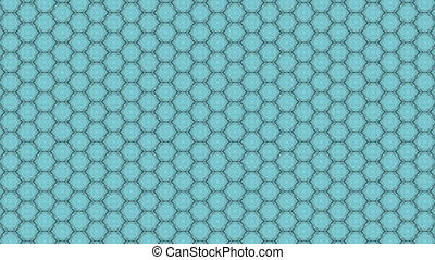 ornament and honeycomb. cinematographic background. seamless loop.