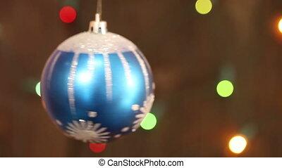 ornament., arbre, noël