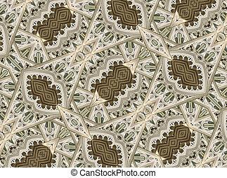 Ornament Baroque Patttern - Geometric digital technique ...