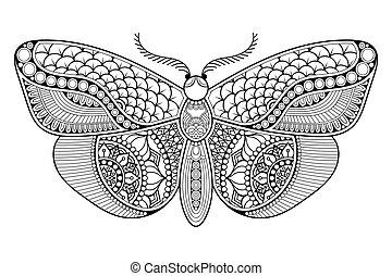 Ornament beautiful butterfly.