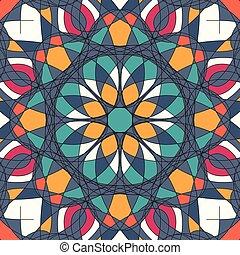 Ornament beautiful pattern with mandala vector illustration