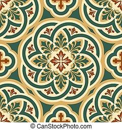 ornament byzantine - vector seamless pattern with Byzantine...