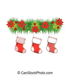ornament christmas flowers with boots christmas