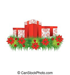 ornament christmas flowers with set collection box gifts christmas