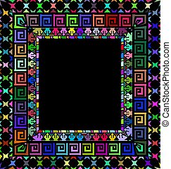 ornament color frame - abstract colored background image of...