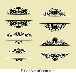 Ornament Decorations - Nice and smooth vector floral...