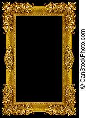 Ornament elements, vintage gold frame floral designs