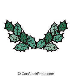 ornament frame with leaves Christmas