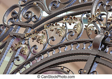 ornament from iron - decorations made of wrought iron, note...