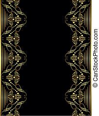 ornament gold frame