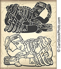 Ornament in style of the Maya