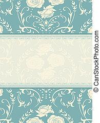ornament invitation - Ornate background. Invitation to the...