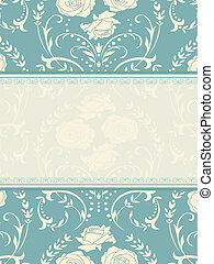 ornament invitation - Ornate background. Invitation to the...