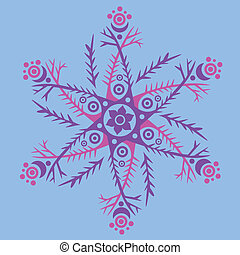 ornament, kaleidoscopic floral pattern