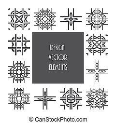 ornament, keltisch, ontwerp, knoop