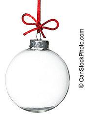 ornament, kerstmis, lege