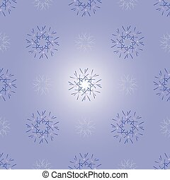 Ornament made of snowflakes.
