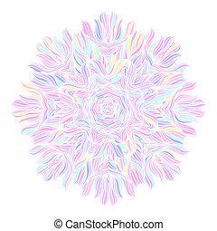 ornament, mandala., pattern., ronde