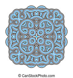 ornament, mandala., pattern., ronde