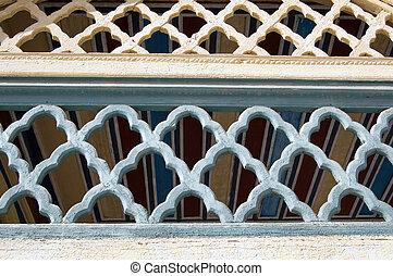 ornament, marokkaan, architecturaal