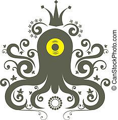 octopus - ornament octopus character pattern design.