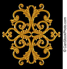 Ornament of gold plated vintage floral ,victorian Style