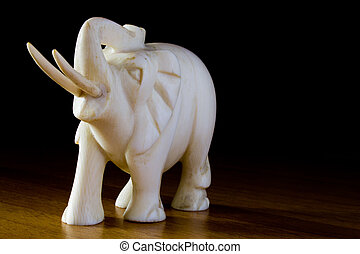 ornament of ivory elephant, african tradition
