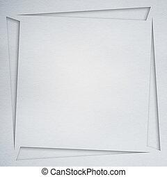 ornament of white paper