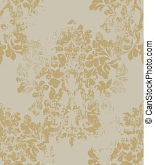 Ornament on grunge background Vector. Baroque intricate design illustrations