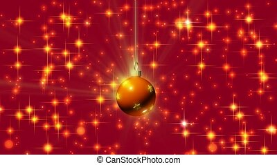 Ornament on red and gold background