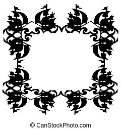 ornament on white background