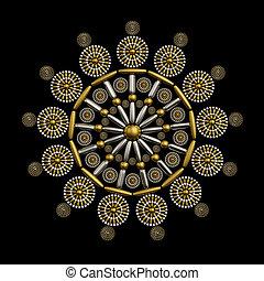 ornament, ontwerp, juwelen