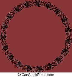 ornament., rond, cadre, palmetta, grec