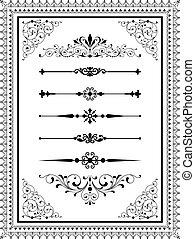 Ornament Set - Set of vector ornaments - scrolls, repeating...