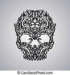 ornament skull art