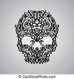 ornament skull art