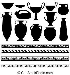 Ornament vase with greek geometric