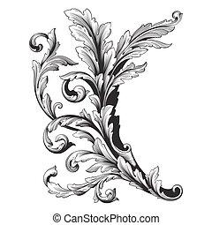 Ornament vector baroque - Vintage baroque frame scroll...