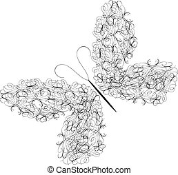 ornament Vectors butterfly