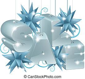 ornament, verkoop, of, jaar, nieuw, kerstmis